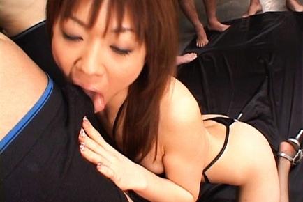 Mao Saito Naughty Asian chick likes orgies