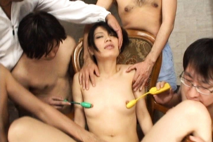 Miki Uehara Naughty Japanese model sucks cock and gets fingered
