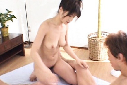 Hyori Shiraishi gets her tight pussy fucked by two horny asian guys