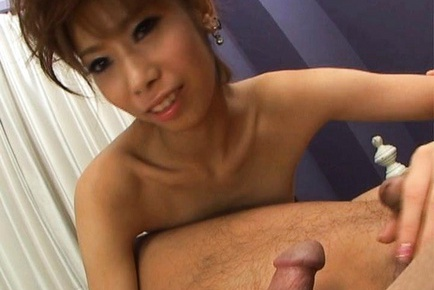Mei Natsuka gets her pussy slammed by two horny men at once!