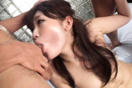 Hot Asian model gets a hard fuck after giving a blowjob