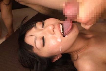 Horny Mako Higashio enjoys amazing threesome