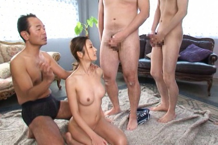 Hot milf Akari Asahina gets banged in group action