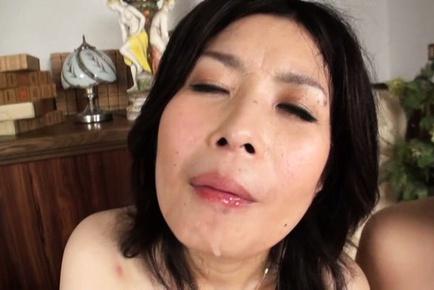 Frisky mature Japanese chicks deepthroat handsome guy