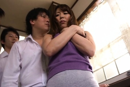 An yabuki moans and blows on a big asian cock 10